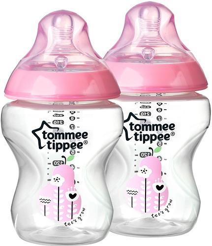 Бутылочка Tommee Tippee 260 мл 2 шт 0+ в ассортименте (6)