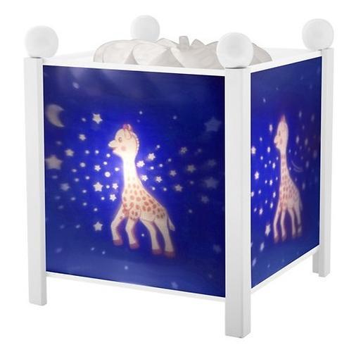 Светильник-ночник Trousselier в форме куба Magic Lantern Sophie the giraffe Milky Way - White 12V (3)