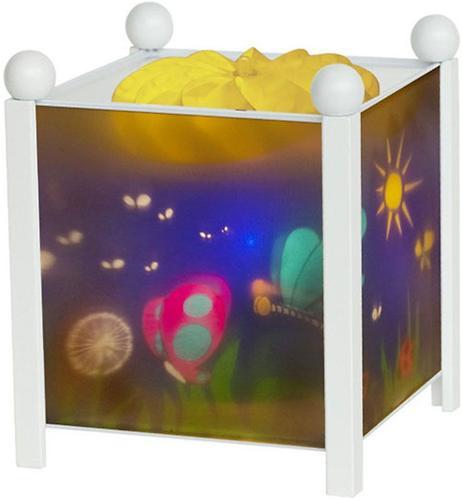 Светильник-ночник Trousselier в форме куба Magic Lantern Butterfly - White 12V (5)