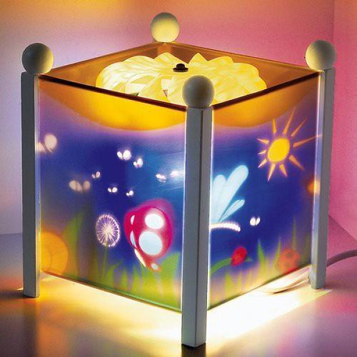 Светильник-ночник Trousselier в форме куба Magic Lantern Butterfly - White 12V (6)