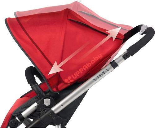 Коляска UPPAbaby Vista 2в1 Малиново-Красная (Red/Silver) (17)
