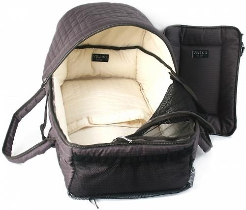 Люлька-переноска Valco baby Soft Bassinet Black (10)