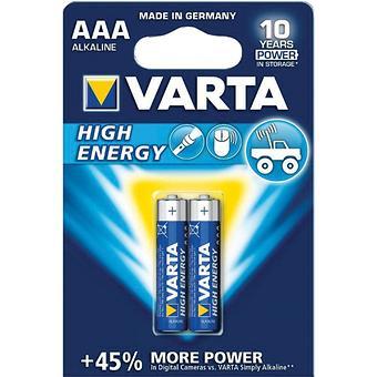 Батарейка Varta High Energy Micro 1.5V - LR03/ AAA (2шт) - Minim