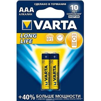 Батарейка Varta Longlife Micro 1.5V - LR03/ AAA (2шт) - Minim