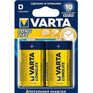 Батарейка Varta Longlife Mono 1.5V - LR20/ D (2шт)