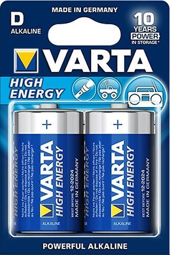 Батарейка Varta High Energy Mono 1.5V - LR20/D (2шт) (1)