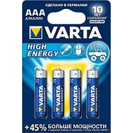 Батарейка Varta High Energy Micro 1.5V - LR03/ AAA (4шт)