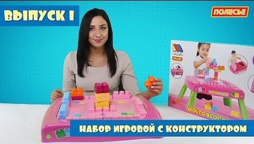 Набор Полесье игровой с конструктором (20 элементов) в коробке (розовый) (20)
