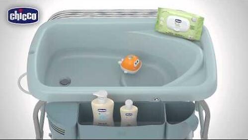 Столик для пеленания+ванночка Chicco Cuddle-Bubble Wild (10)