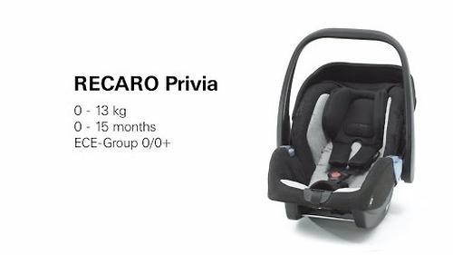 Автокресло Recaro Privia Evo (Group 0+) Carbon Black (12)