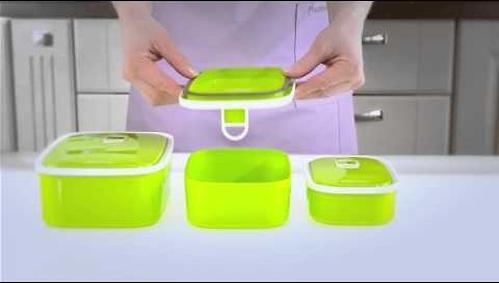 Прямоугольный контейнер для хранения продуктов 15,5x10,7x4,7 см / 0,42 л (пластик) Fissman 6781 (4)