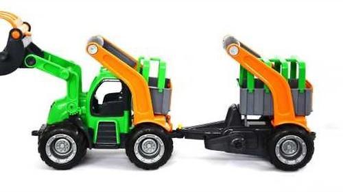 Трактор-погрузчик с цистерной Полесье ГрипТрак (в коробке) (8)
