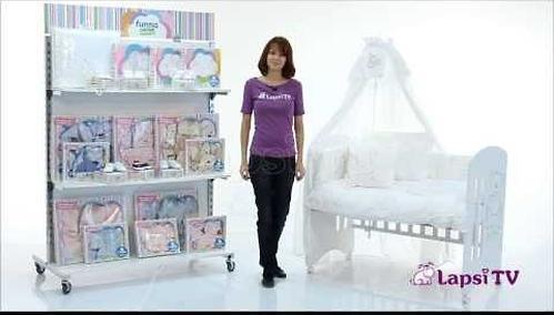 Комплект постельного белья FunnaBaby Luna Chic White 5 пр. с балдахином и карманом накопителем (6)