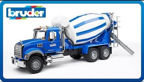 Bruder бетономешалка N MACK Granite Truck (4)