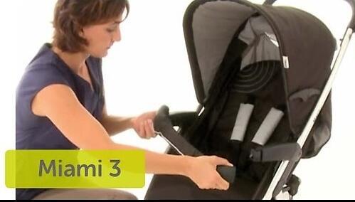 Коляска Hauck Miami 3S SLX Черно-серая (12)