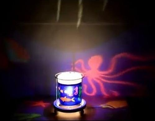 Светильник-ночник Trousselier в форме цилиндра с функцией проектора Merry Go Round Sophie the giraffe Paris (4)