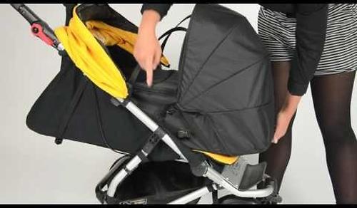 Люлька для новорожденного Mountain Buggy Newborn Сocoon Черная (8)