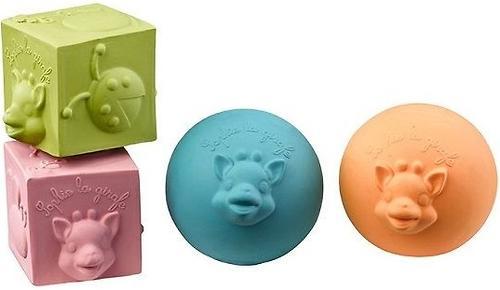 Набор Vulli из 2 мячиков + 2 кубиков Sophie la girafe (3)