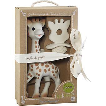 Набор подарочный Vulli Игрушка жираф и жевательная резиновая пустышка - Minim