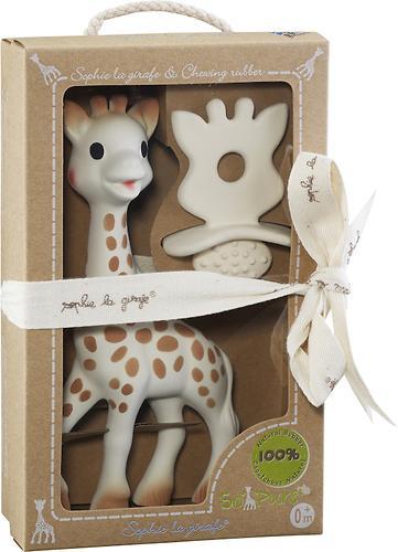 Набор подарочный Vulli Игрушка жираф и жевательная резиновая пустышка (4)