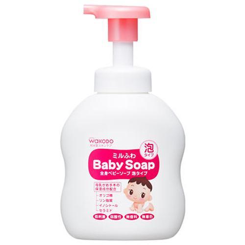 Детское жидкое мыло-пенка Wakodo с увлажняющим эффектом Milufuwa 450 мл (1)