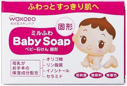 Детское туалетное мыло Wakodo с увлажняющим эффектом Milufuwa 85 гр (1)