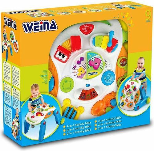 Ходунки-каталка Weina развивающий столик (9)