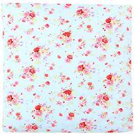 Подушка Зайка моя Цветы Голубая 40х40 см