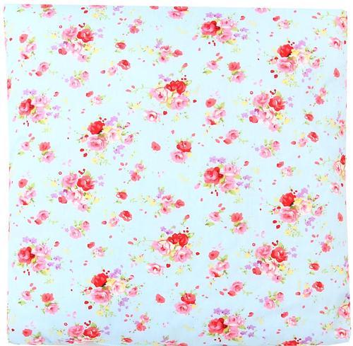 Подушка Зайка моя Цветы Голубая 40х40 см (1)